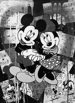 Minnie und Mickey Maus - Liebe von Kathleen Artist Fine Art