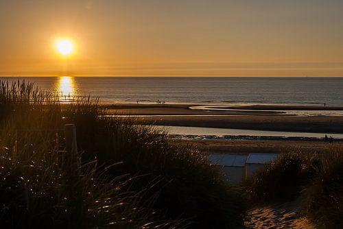 Zonsondergang De Haan (B) van