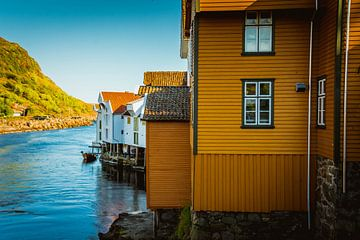 Strand von Sogndal - Norwegen von Evy De Wit