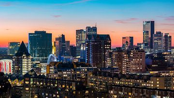 Rotterdam skyline in details van Midi010 Fotografie