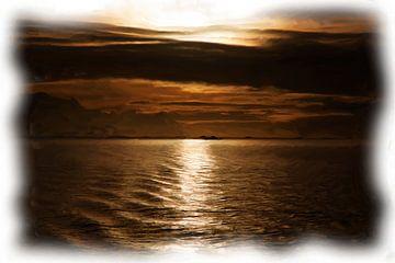 Antarktischer Sonnenuntergang von Maurice Dawson