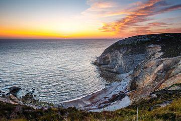 Zonsondergang in Cap de la Chèvre, Bretagne van Marco Kost