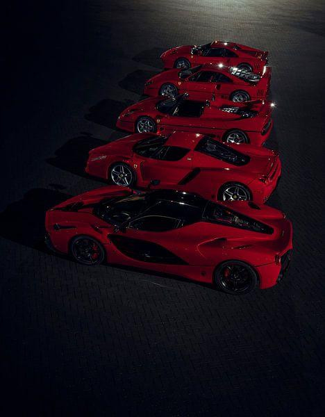 The Ferrari Big 5 - Line up by Gijs Spierings van Gijs Spierings
