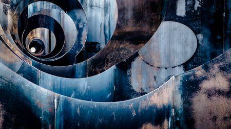 James Bond - stalen kunstwerk - mijn - trompe oeuil van Sven Van Santvliet