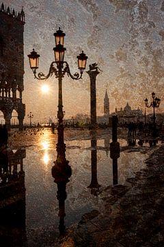 Zonsopgang op het San Marco-plein van Andreas Müller