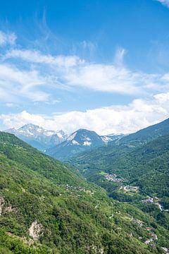 Blick auf die französischen Alpen.