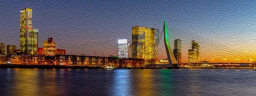 Rotterdam (avondpanorama)