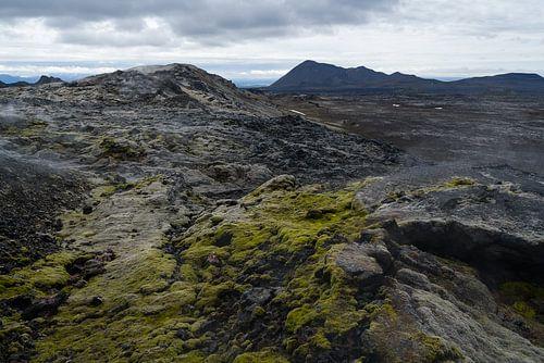 Lavavelden van Leirhnjúkur, IJsland van