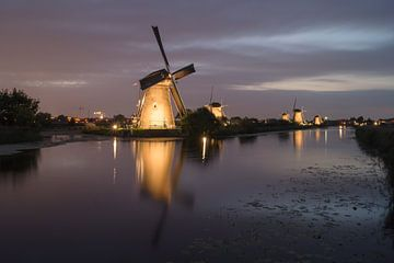 Kinderdijk verlicht van Jan Koppelaar