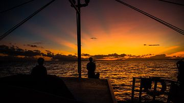 Sonnenaufgang Malapascua Insel von Marco Vet