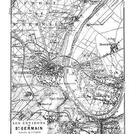 Historische Landkarte von Paris von Andrea Haase