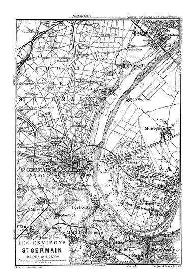 Historische Landkarte von Paris