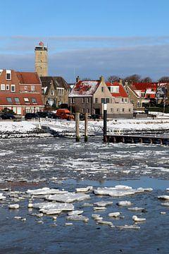 Le port de Terschelling en hiver sur Mooi op Terschelling