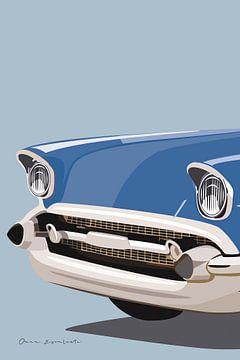 Amerikaanse vintage auto II, Omar Escalante van Wild Apple