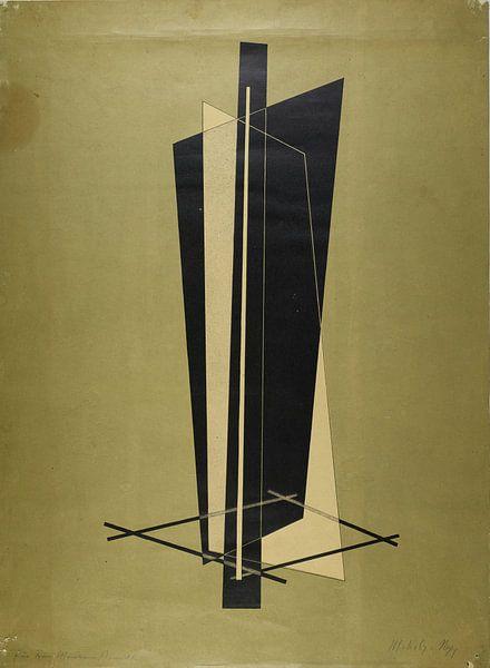 Bauhaus, László Moholy-Nagy, zonder titel (Compositie) - 1923 van Atelier Liesjes