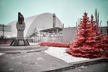 Reaktor Nr. 4 Tschernobyl Infrarot von Lars Beekman