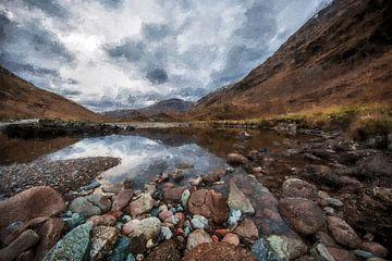 Die schöne Landschaft von Schottland von Digitale Schilderijen