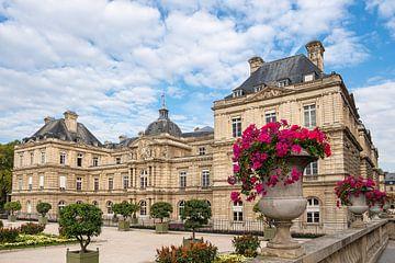 Blick auf den Luxemburggarten mit Schloss  in Paris von Rico Ködder