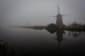 Mist bij Kinderdijk von Due Fotografi