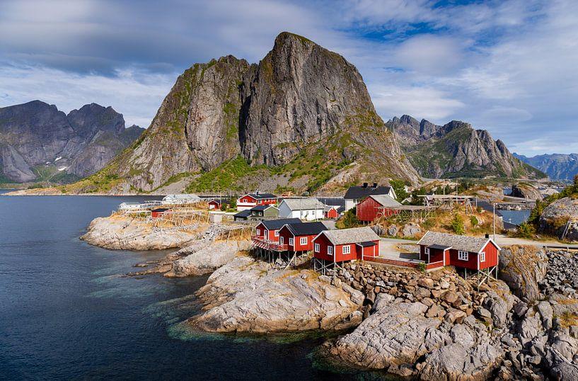 Hamnøy en été sur Adelheid Smitt