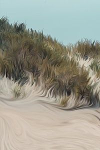 Gras op de duinen