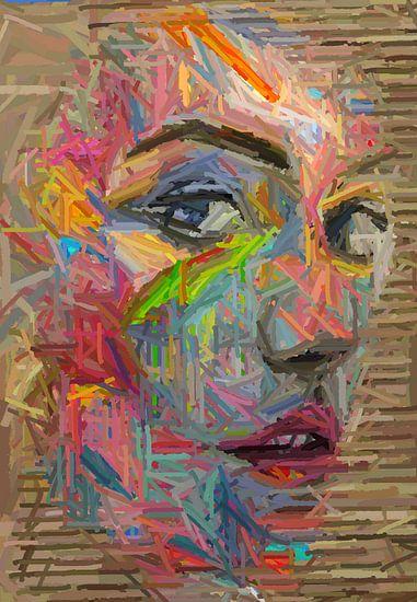 Panic girl-abstrakt