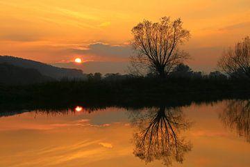 Sonnenuntergang an der Ruhr van Bernhard Kaiser