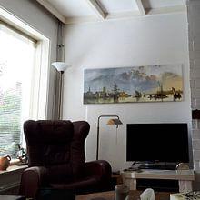 Klantfoto: Gezicht op Dordrecht vanuit het noorden, Aelbert Cuyp, op canvas