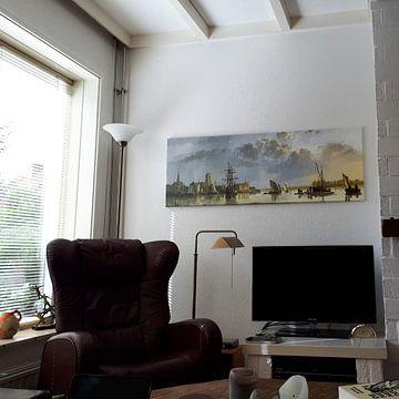 Kundenfoto: Blick auf Dordrecht von Norden, Aelbert Cuyp