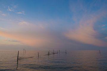 Zonsondergang aan het IJsselmeer  von Marcel Klootwijk