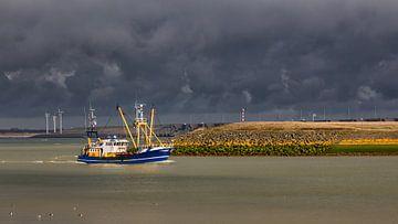 Onder een dreigende lucht op weg naar de haven sur Bram van Broekhoven