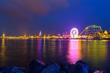 De skyline van de Hanzestad Kampen tijdens Sail Kampen 2018 van Sjoerd van der Wal