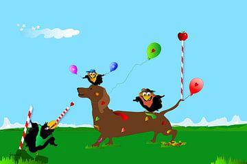 Happy Birds JM1705op van Johannes Murat
