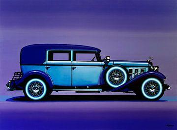 Peinture de la Cadillac V16 1930