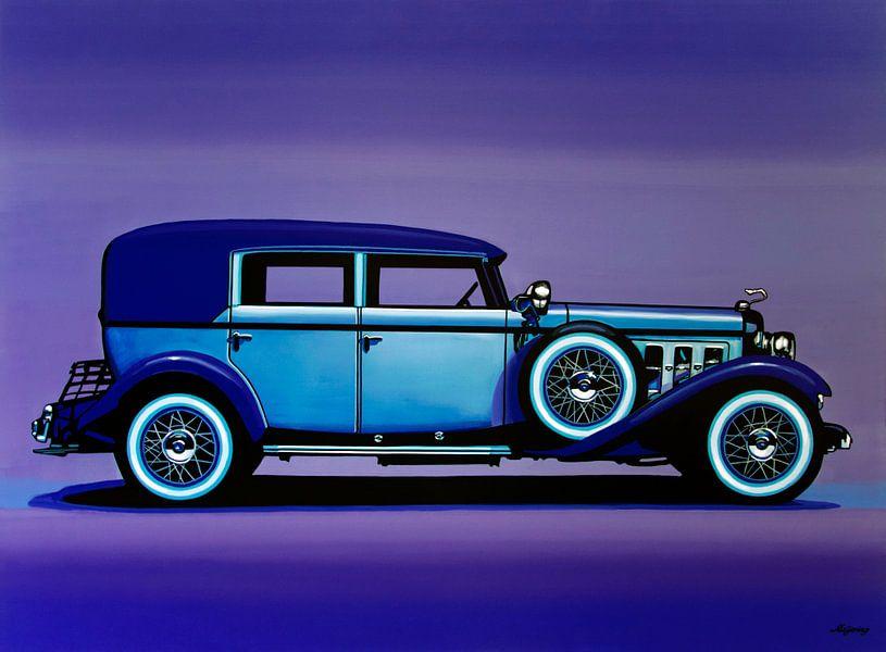 Cadillac V16 1930 Schilderij van Paul Meijering