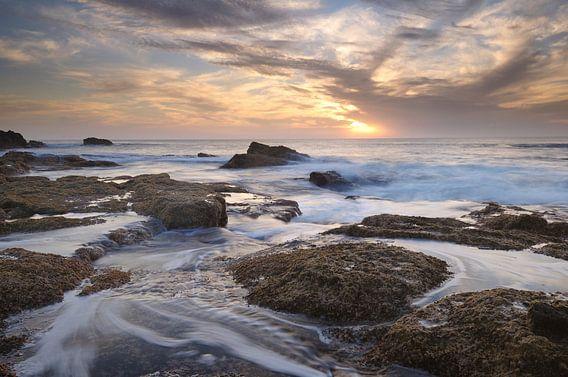 Zonsondergang kust Fuerteventura  van John Leeninga