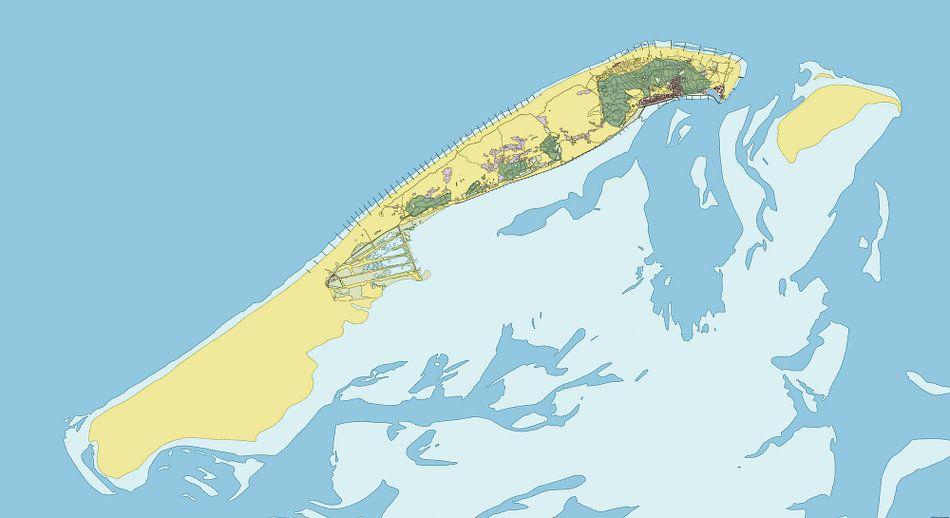 Kaart vanVlieland