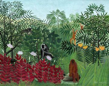Tropischer Wald mit Affen, Rousseau