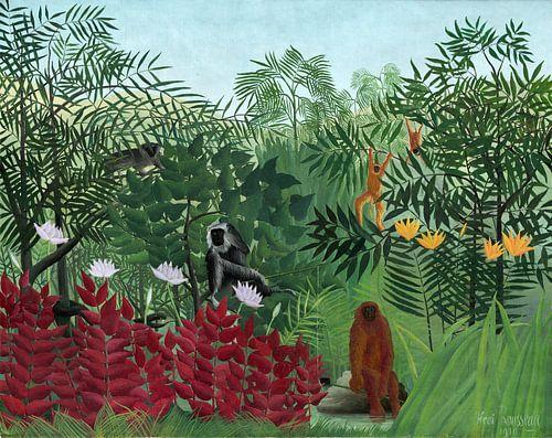 Tropisch Bos met Apen, Rousseau