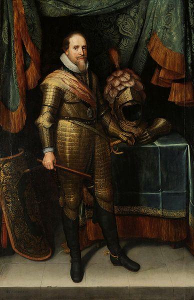 Porträt von Maurits dem Prinz von Oranien, Michiel Jansz. van Mierevelt von Meesterlijcke Meesters