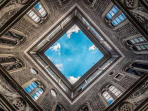 Perspectief vanaf de binnenplaats van Palazzo Medici Riccardi