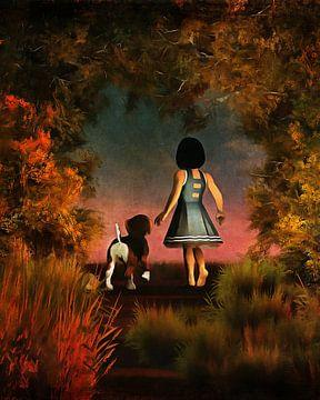 Kinderen Kunst: Romantische wandeling in het bos van Jan Keteleer