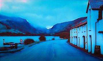 Blauw landschap, Wales van Rietje Bulthuis