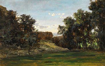 Carlos de Haes-Grasland Landschaft, Antike Landschaft