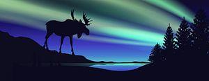 Stehen im Nordlicht