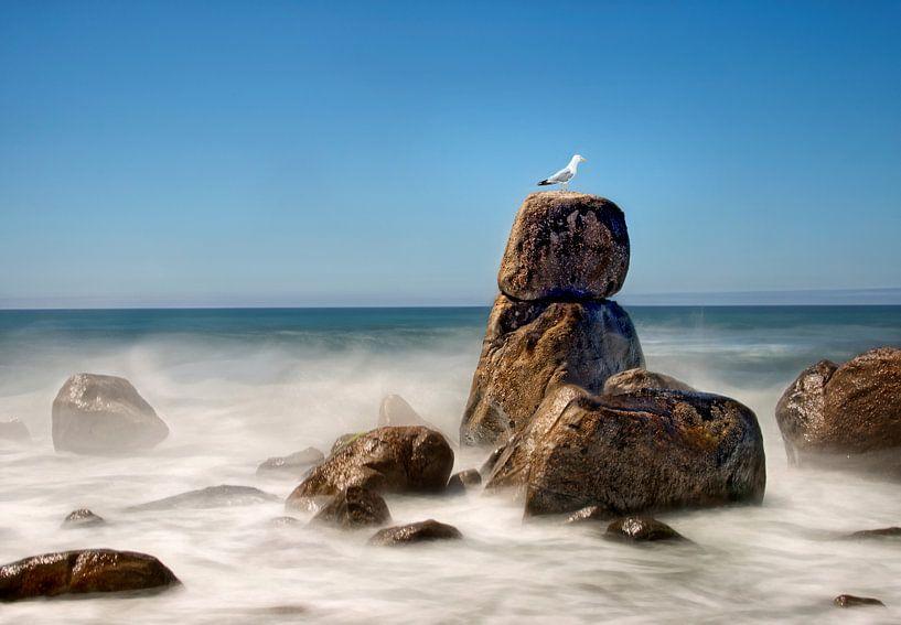 Rots in zee landschap van Marcel van Balken