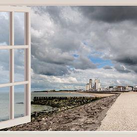 Vue sur le boulevard de Vlissingen (depuis la fenêtre) sur Fotografie Jeronimo