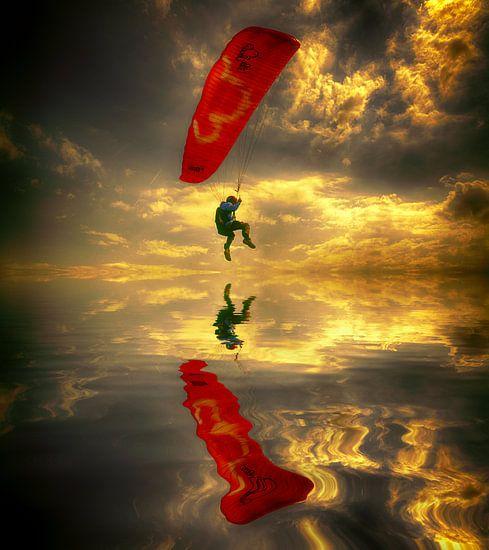 Vliegen boven zee van Egon Zitter