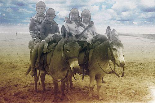 Esel reiten der 1920er Jahre von