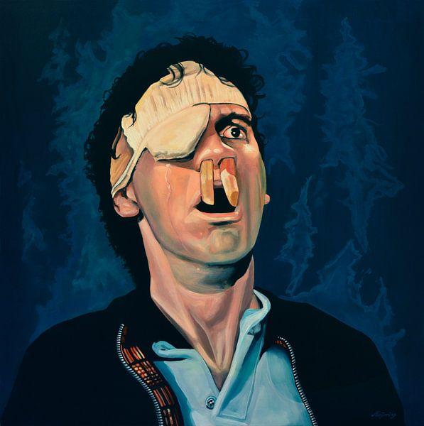 Michael Palin Schilderij van Paul Meijering